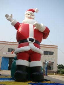 SANTA CLAUSE 14MH PROMO INFLATABLE HIRE SYDNEY
