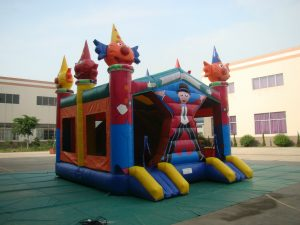 CLOWN COMBO 6X5.5 JUMPING CASTLE COMBO WITH SLIDE AND POP UPS AGES 3 TO 12