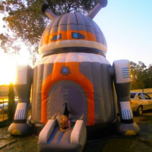 ROBOT 4X4M PLAIN JUMPING CASTLES AGES 3 TO 12