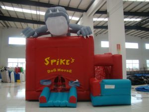 SPIKES DOG HOUSE 5X5 AGES 3 TO 12 JUMPING CASTLE COMBO