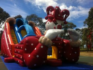 HIGH SLIDE CLOWN 12X9X8MH JUMPING CASTLE AGES 3 TO ADULTS