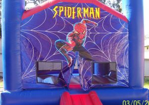 HIRE SMALL JUMPING CASTLE SPIDERMAN 4X4 AGES 1 TO 12