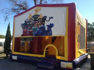 SESAME STREET 5IN 1 COMBO 5X5M JUMPING CASTLE HIRE SYDNEY